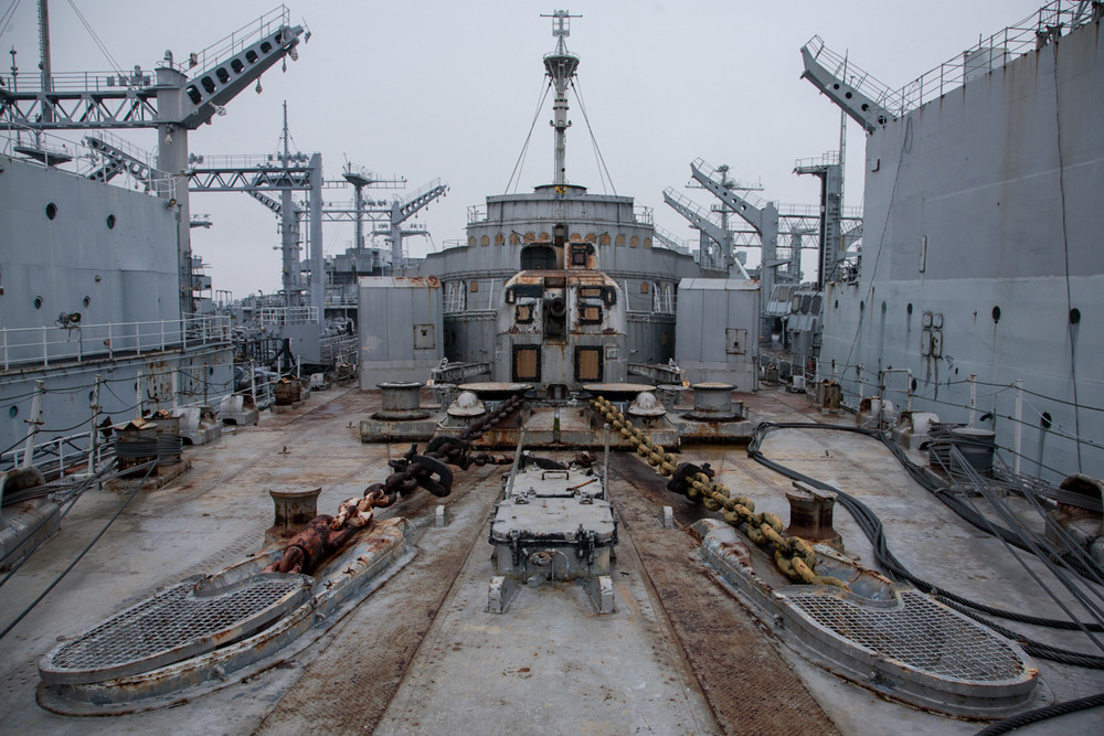 USS Nereus, submarine tender   Commissioned: 1945 Transfered to SBRF: 1971