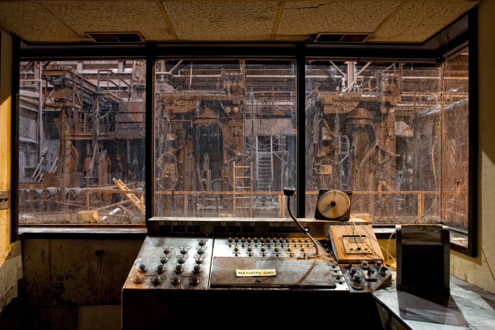 Control room    |    McLouth Steel Factory    |    Michigan