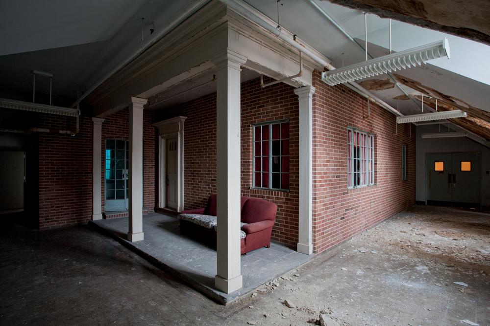 Exterior of fourth floor single-family rehabilitation house.