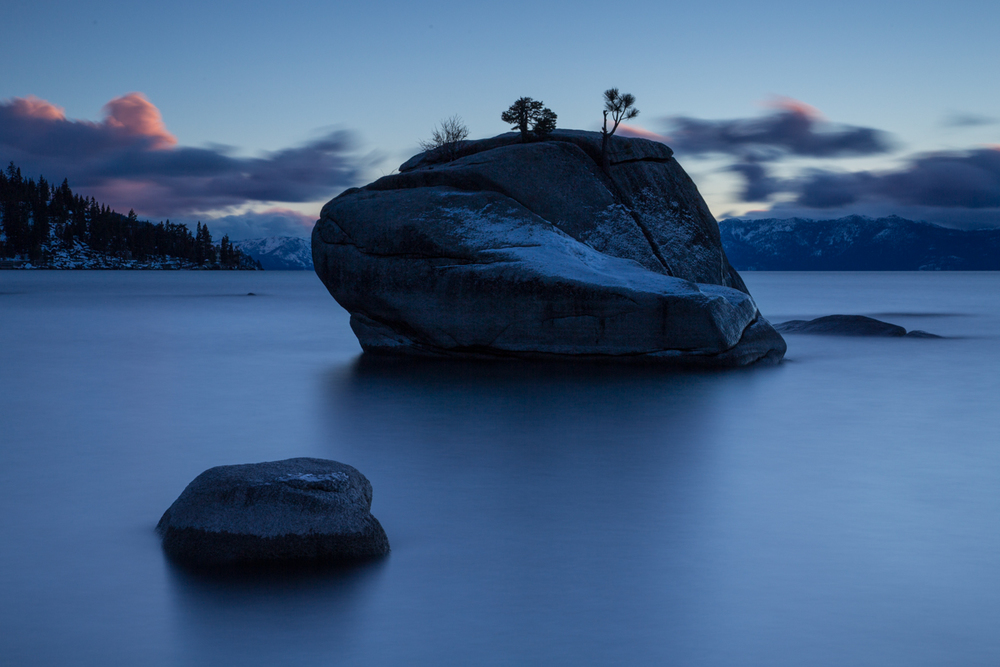 Blue hour at Lake Tahoe, California