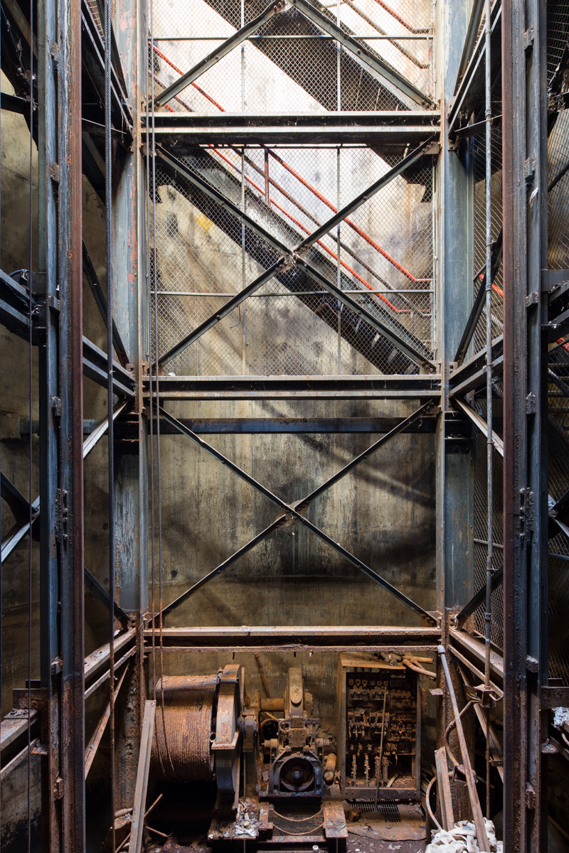 Portal, freight elevator