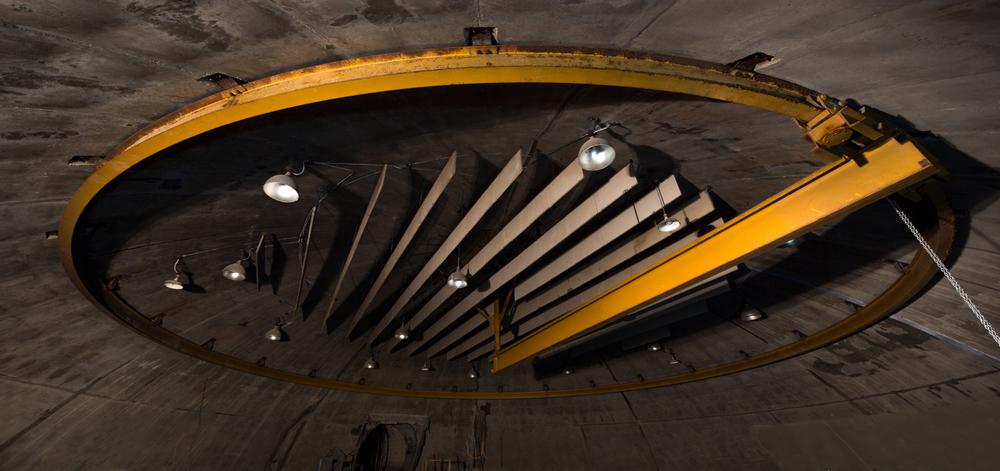 Power house ceiling sound baffles