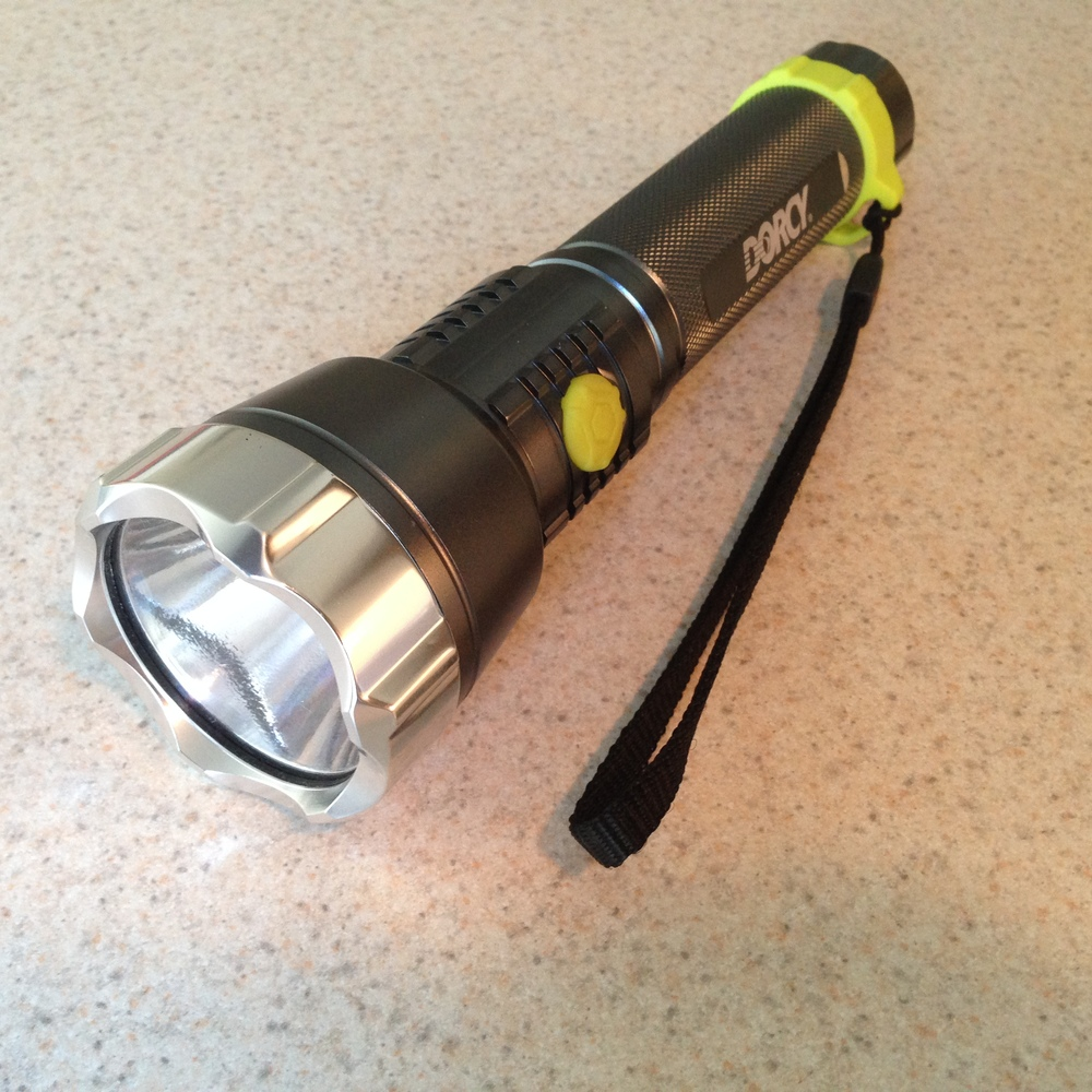 Flashlight comes packaged with wrist strap