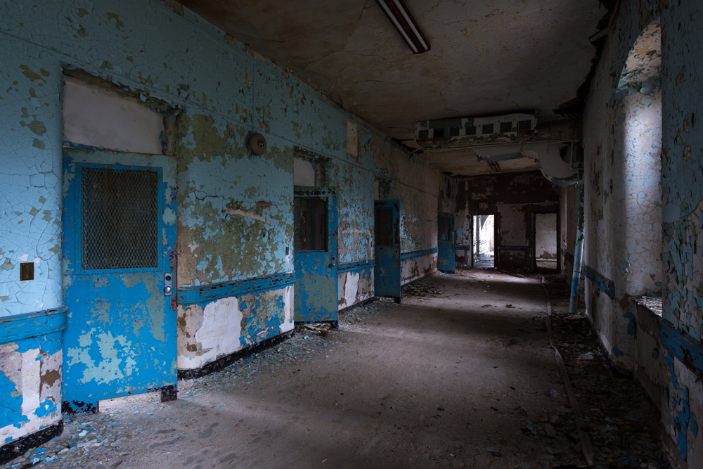 Female violent ward in Greystone Park Psychiatric Hospital - Morris Plains, New Jersey