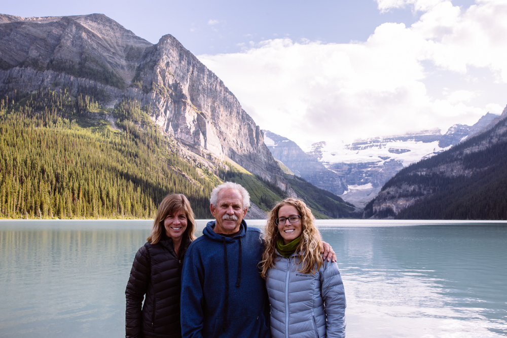 Trina, Dad and I at Lake Louise, Banff National Park