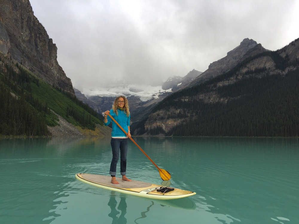 Paddle boarding on Lake Louise, Banff National Park - iPhone image with Catalyst Case