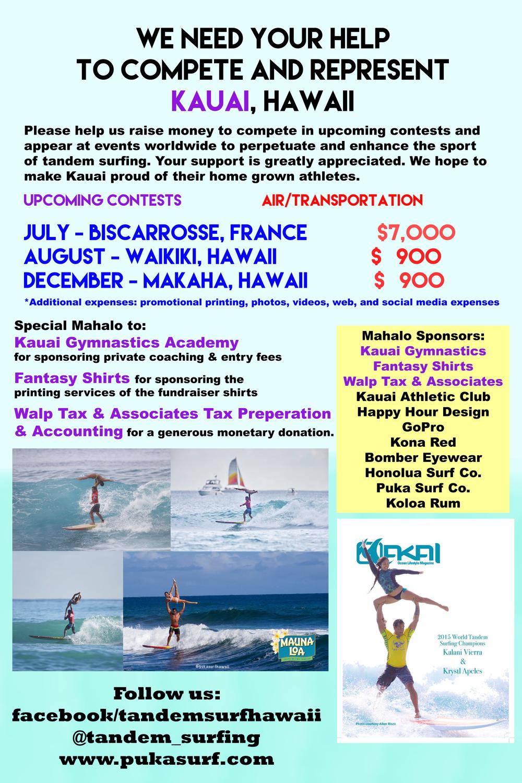 Tandem Surfing Fundraiser