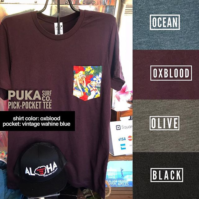 Pick a shirt + Pick a pocket Pick one or pick plenty and POOF ✨ Your a Puka Pick Pocket Pro ... Come visit me at the Surf Stream to see what's ready-to-wear or customize your very own. ... #pukapickpocket #pukasurf #kauaimade #customshirts #kauai #shopkauai #surfstream #mobileretail