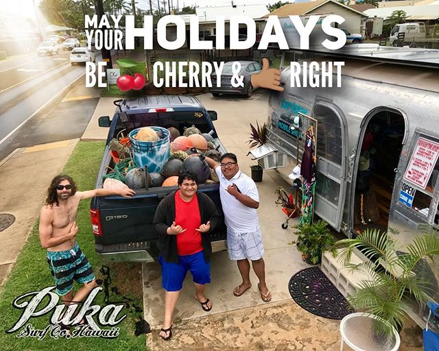 May your holidays be 🍒 Cherrray & 🤙🏽 Right 🌲🌎🌲🌎 #itsalwaysagoodtime #beachcleanup #dowhatsright 🌲🌎🌲🌎 Couldn't make it to this clean up but so glad they stopped by to show off their haul 👏🏽 #givebacktotheaina #inspiredaily
