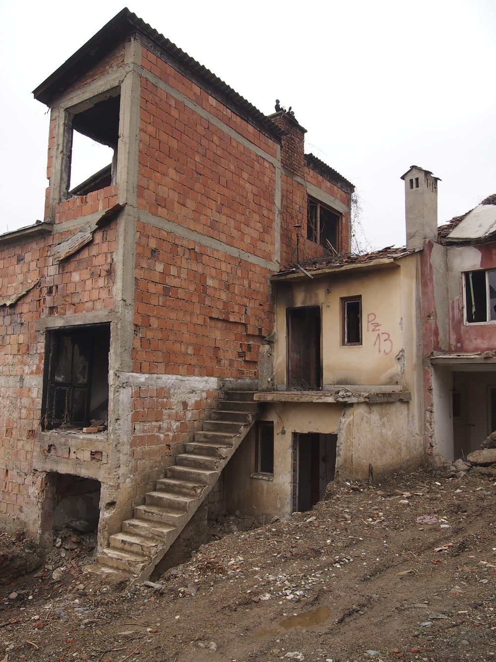 Beneficiary house marked for reconstruction, Prizren