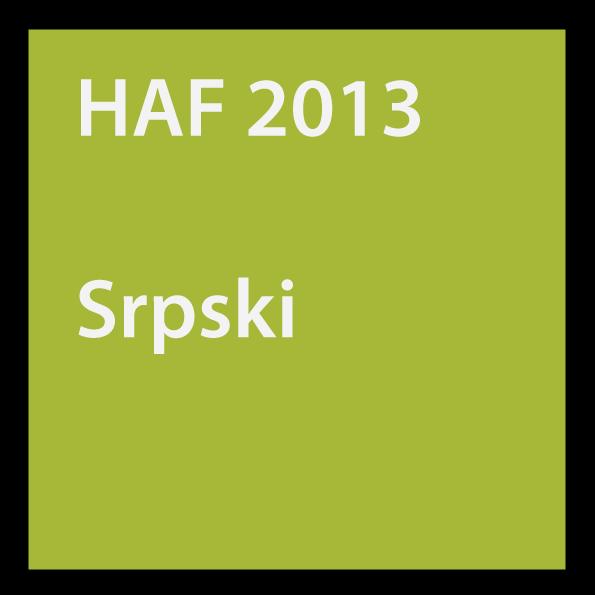 HAF 2013 Srpski
