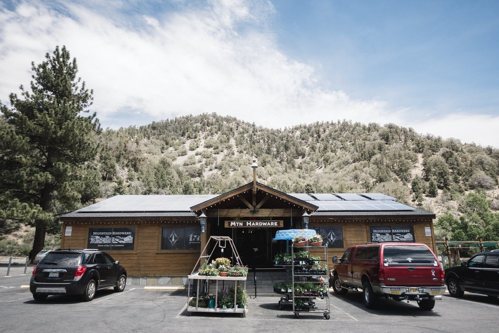 Mtn Hardware in Wrightwood.
