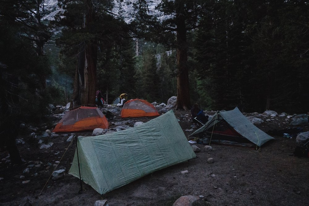 Our tent-city. Mine in front.