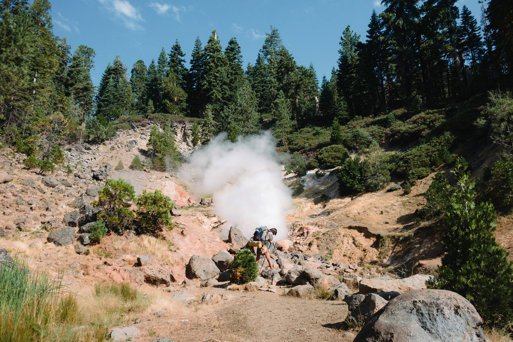 Sam taking photos of the Terminal Geyser.