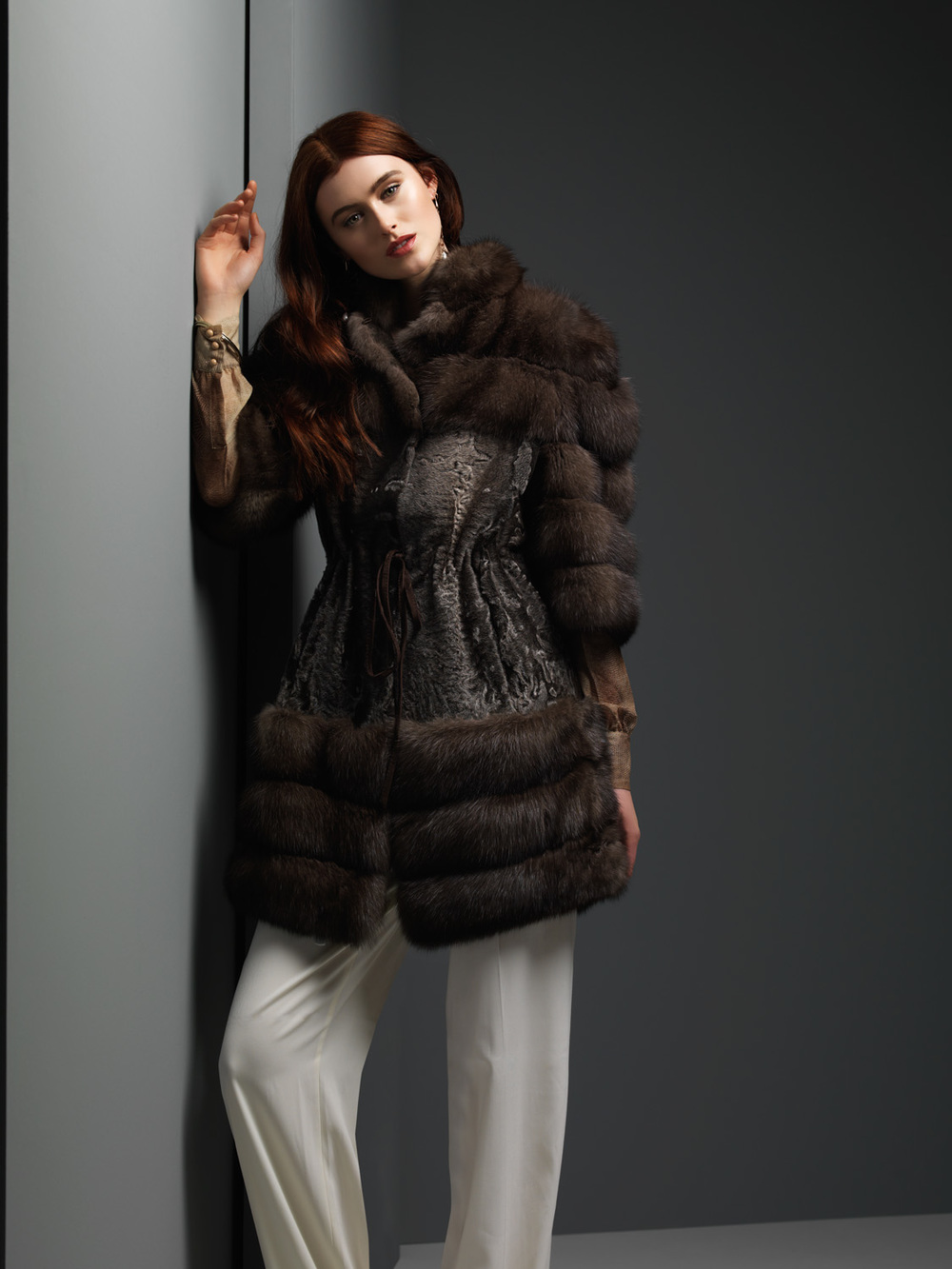 Silver Russian Sable and Lambskins Jacket