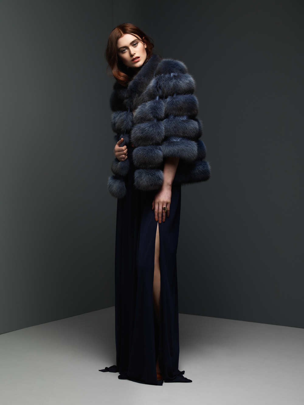 Ocean Russian Sable and Pyton Jacket