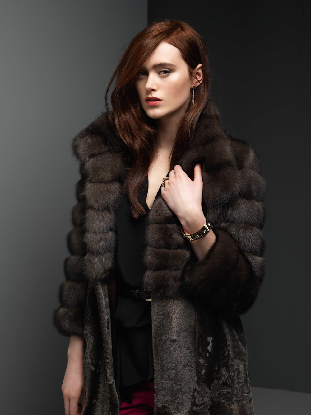 Silvery Russian Sable and Lambskins Jacket