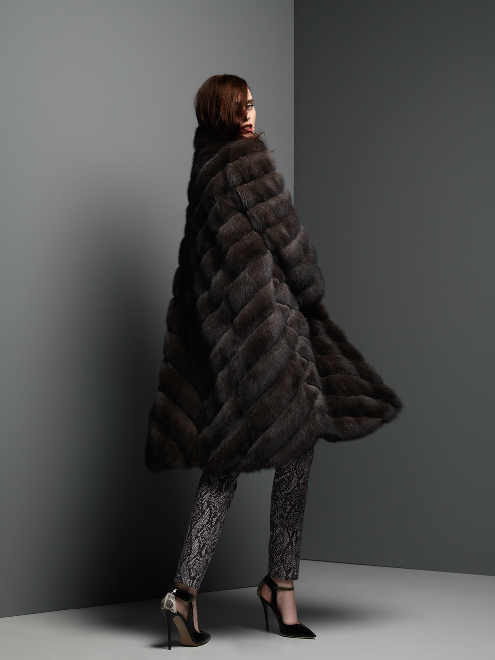 Silvery Russian Sable Coat