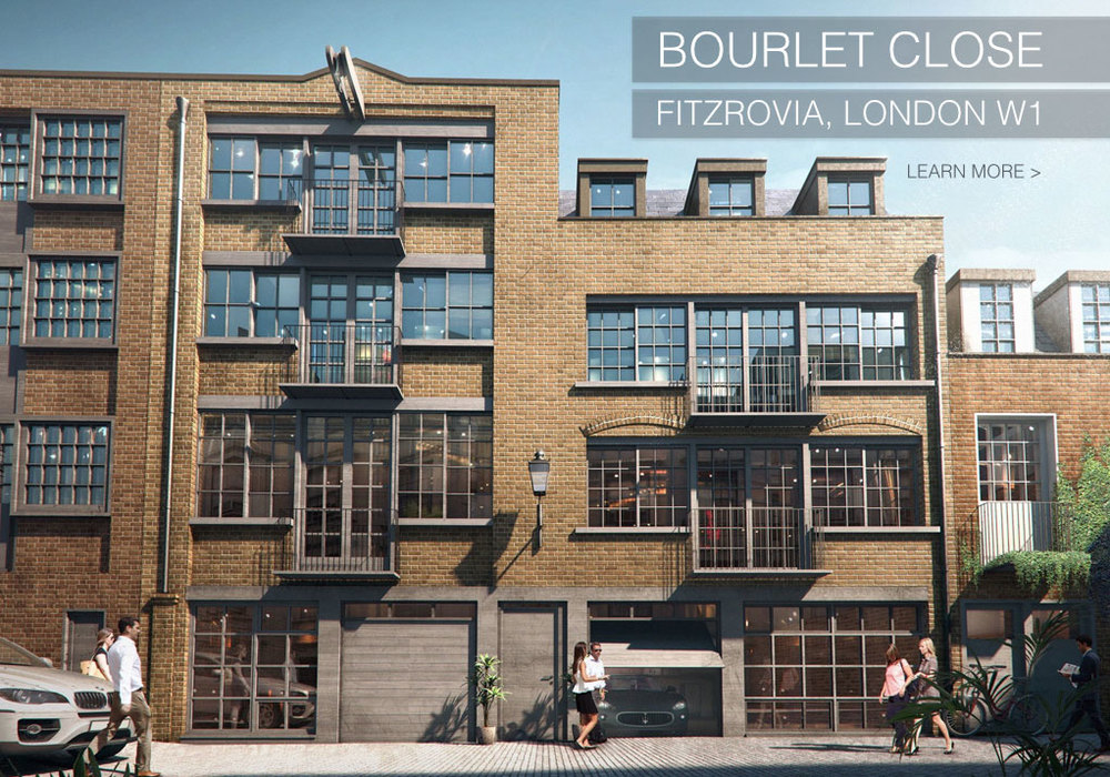 COMING SPRING 2015: BOURLET CLOSE, LONDON W1