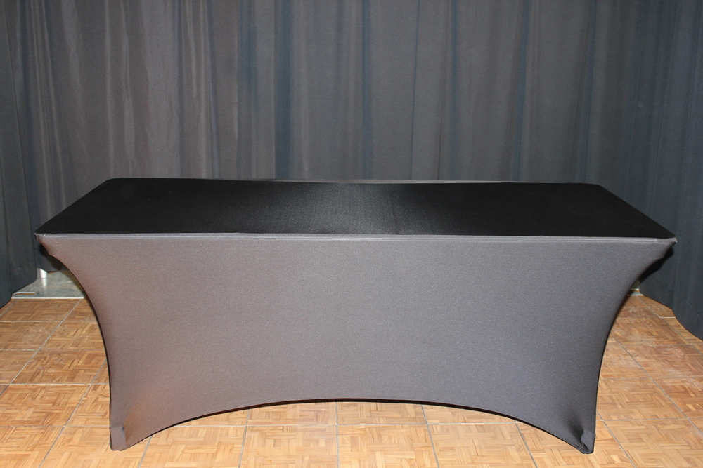 6ft rect table with black stetch linen.JPG