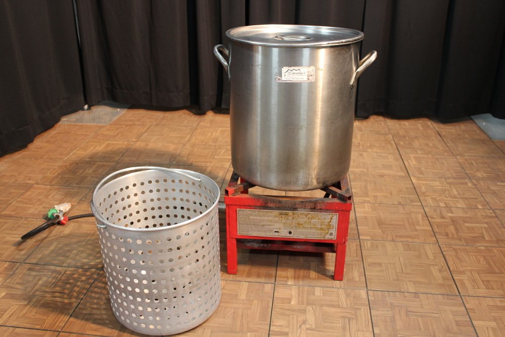 Propane Cooker $  30.00  Cooking Pot $  30.00  Cooking Pot Strainer $  30.00  Propane Tanks - 20 lb. $  35.00