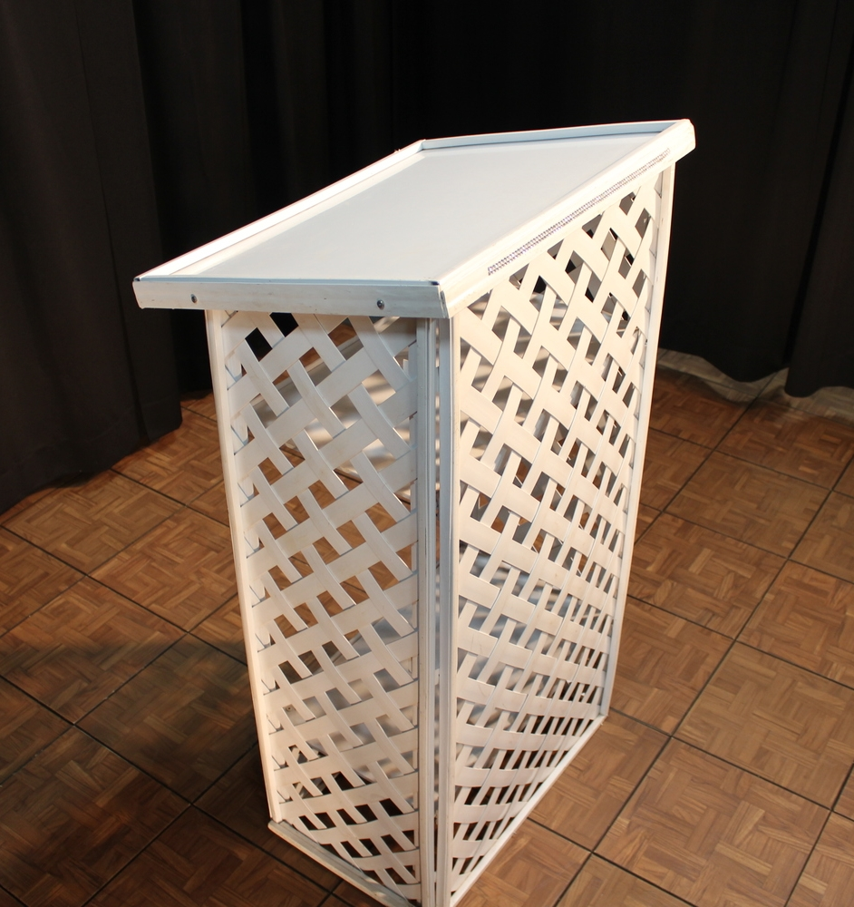 White Lattice Podium  $20.00
