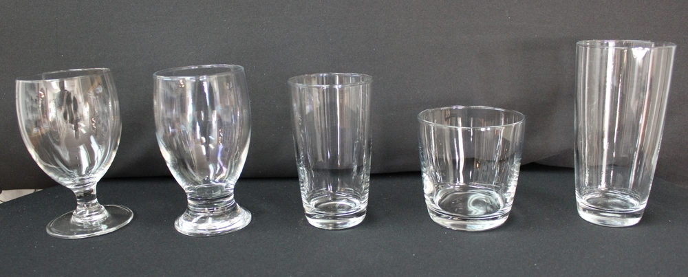 Glassware (Libby)   10.5 oz. Water Glass $0.50 Each (two styles)  6.5 oz. Hi-Ball Glass  $0.50 Each  10 oz. Rock Glass  $0.50 Each  12 oz. Beer Glass  $0.50 Each