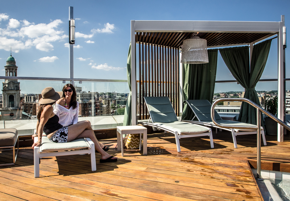 The Donovan Hotel Roof top pool bar