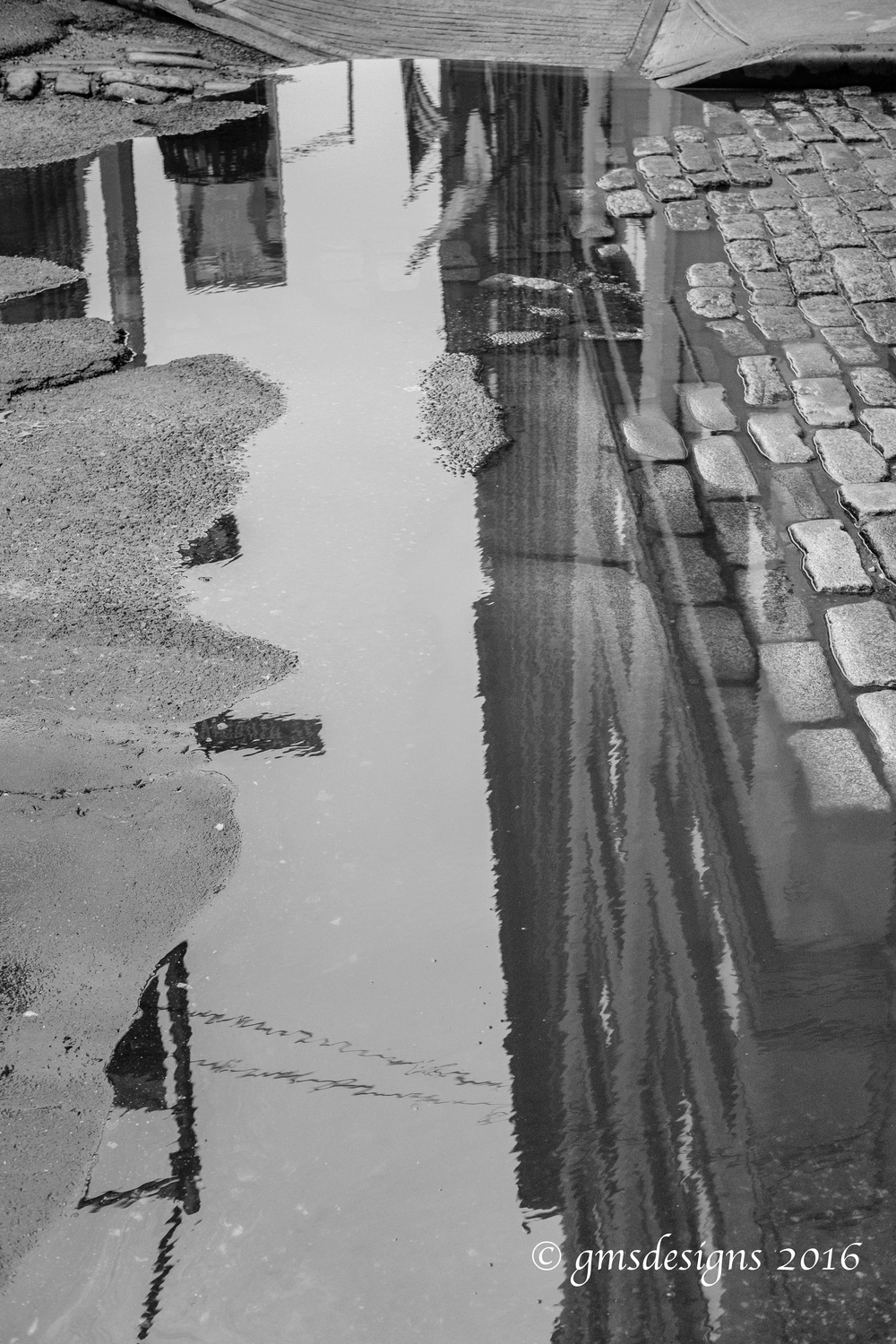 Puddle reflections, Dumbo, Brooklyn, NYC.jpg