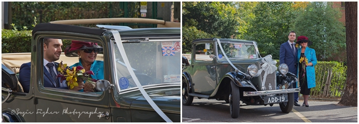 Bridal car arriving in Kingston_Susie Fisher Photography.jpg