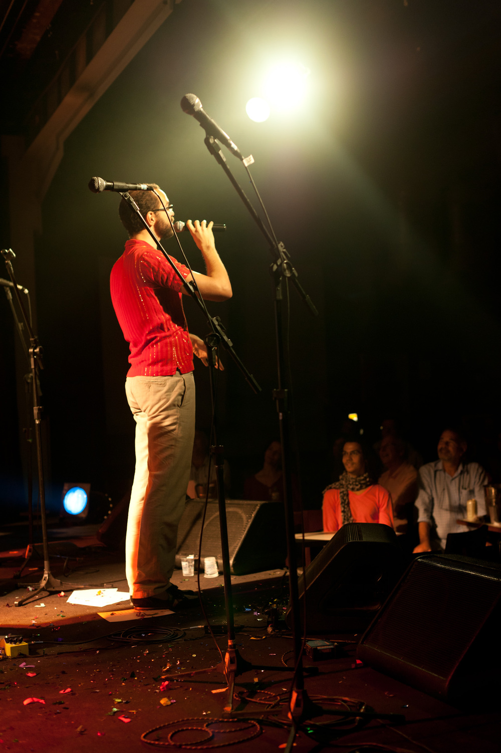 No lançamento do CD Claroescuro - Teatro Rival. Foto de Camilo Lobo