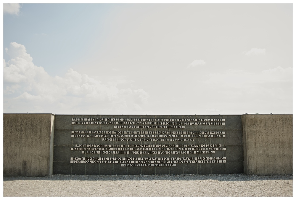 """M ay the example of those who were exterminated here between 1933-1945 because they resisted Nazism help to unite the living for the defense of peace and freedom, and the respect of their fellow men."""