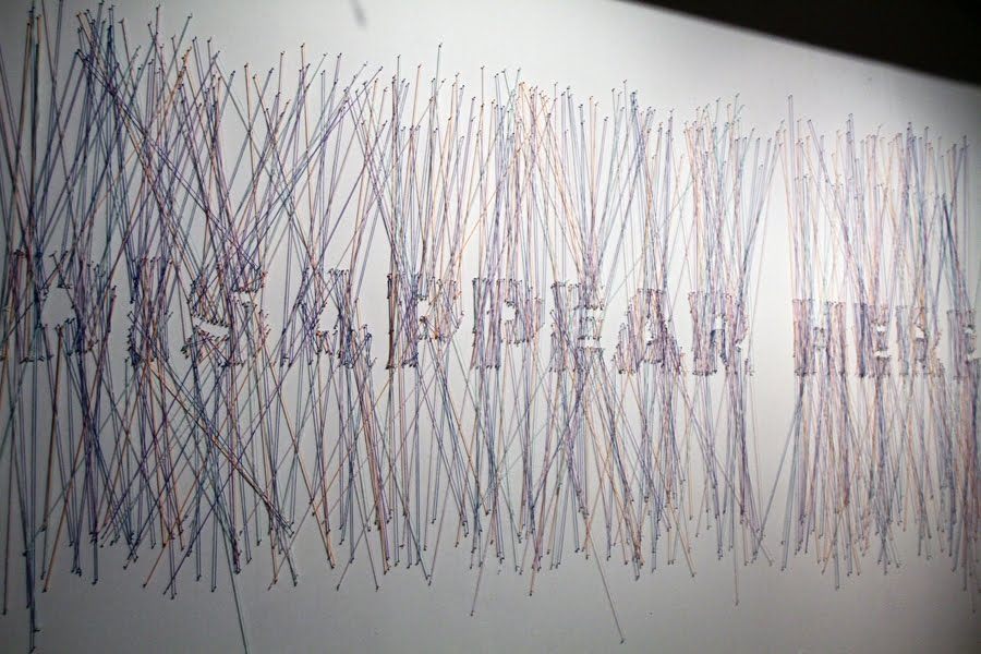 DISAPPEAR HERE- installation, string and nail