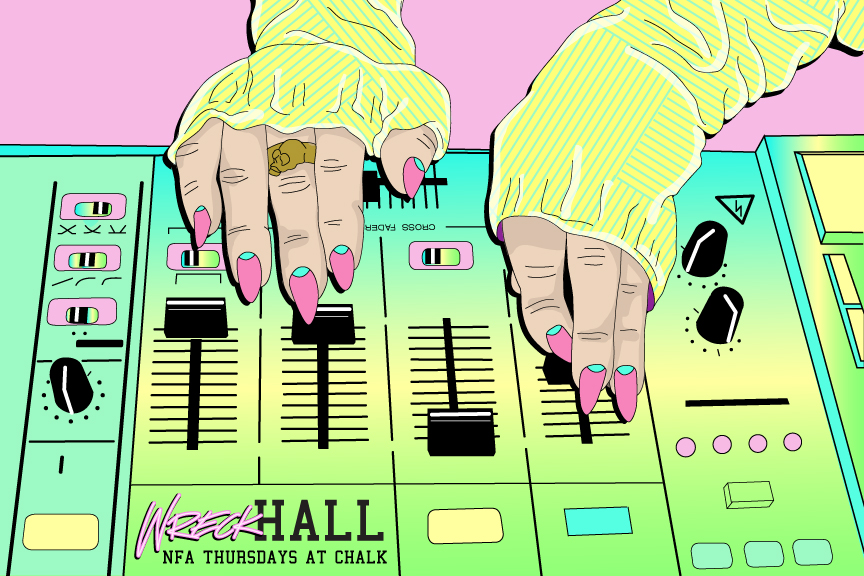 WRECK HALL- party flyer