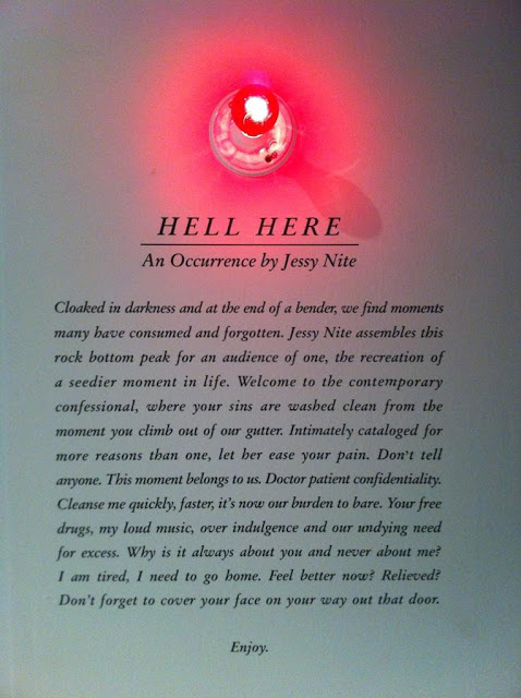 HELL HERE- entrance to interactive installation