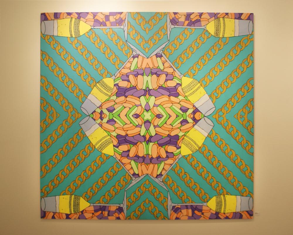 High Life | Acrylic on Panel | 4ft x 4ft