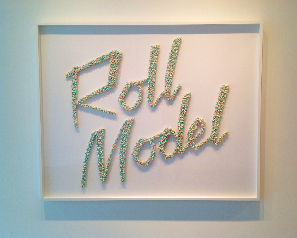 ROLL MODEL | Mixed Media / Pills | 4ftx5ft | 2013