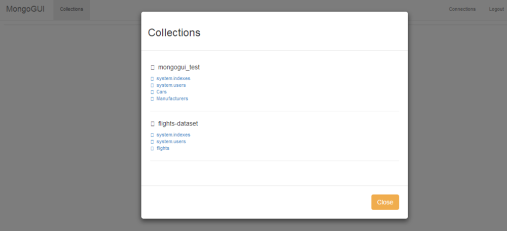 Select a collection from one of your databases.