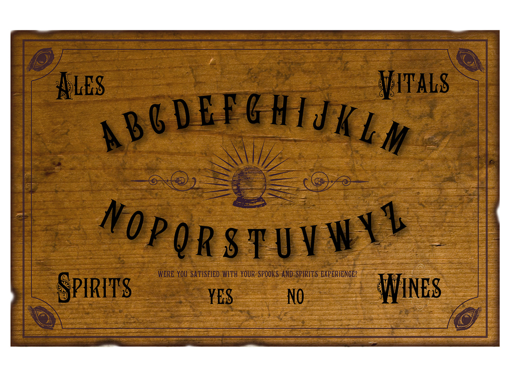 Ouija board placemat