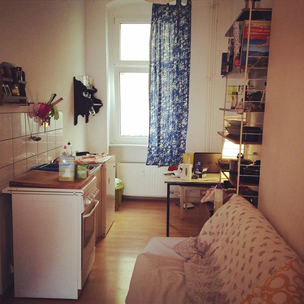 Living quarters in back