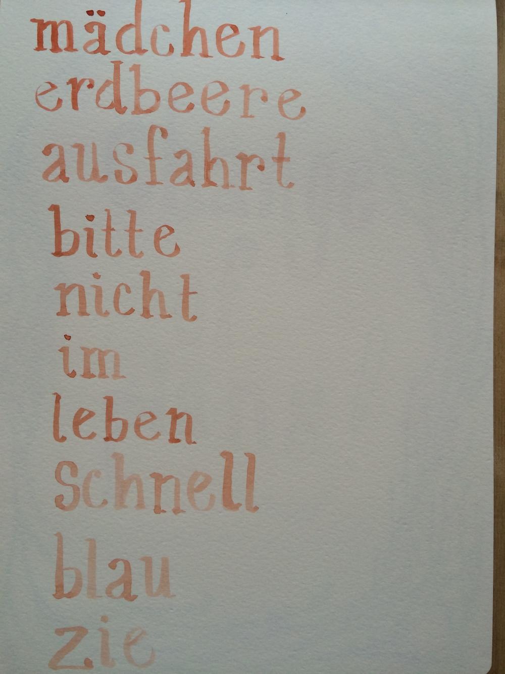 8/4/14 German words I know