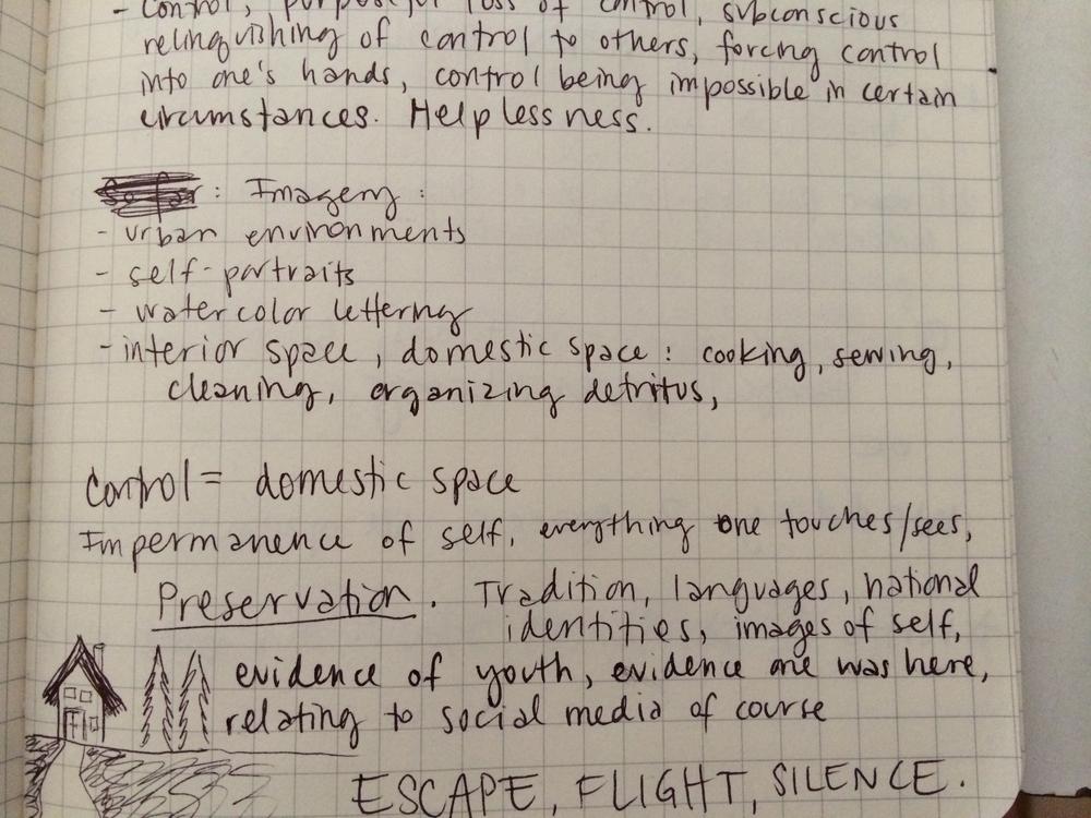 8/4/14 Writing stuff on the train