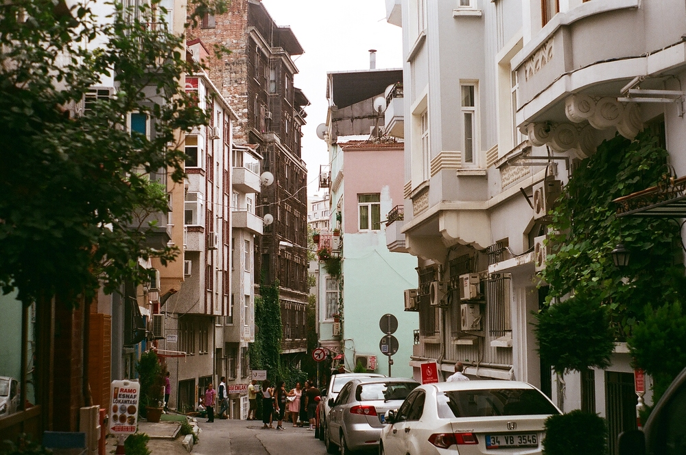 The street I stayed on just off Taksim square.