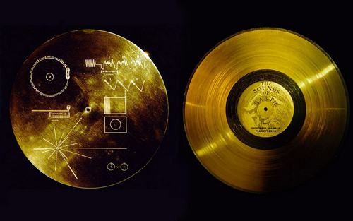 Golden record aboard the Voyager.