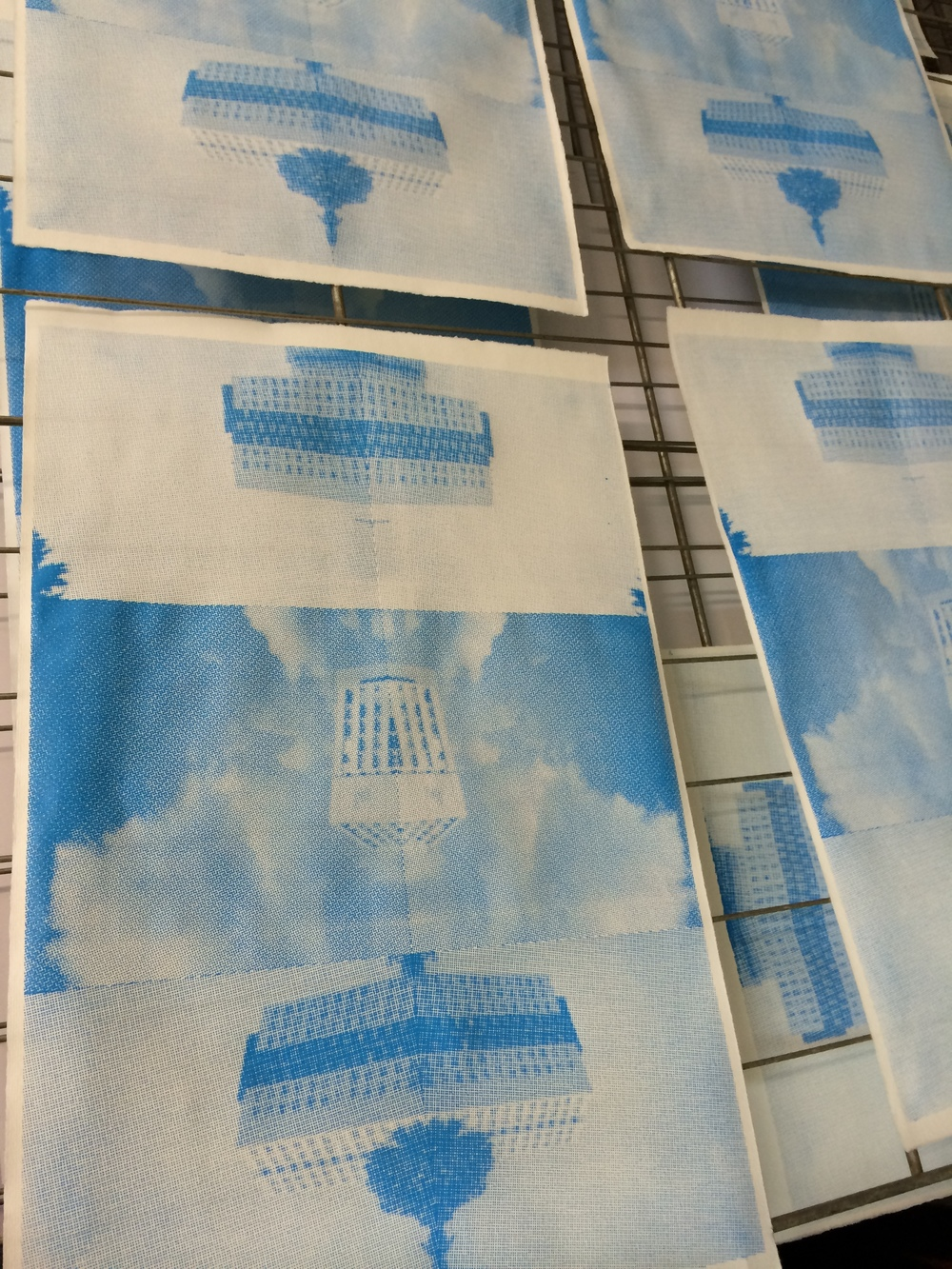 8/23 Screen prints from building photos.