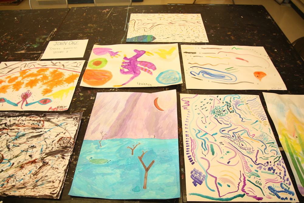 11.25 Made my students watercolor to John Cage.