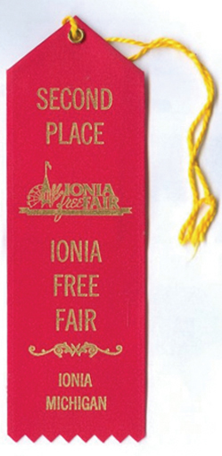 In 2001, I entered the Ionia Free Fair Baking Contest with my Nectarine-Upside-Down Cake and won a red ribbon for second place.