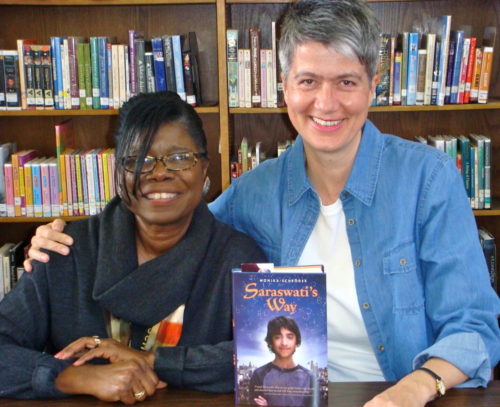 I had a wonderful visit, thanks to sixth-grade teacher extraordinaire, Phyllis Harvey.