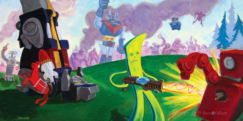 Gumby vs. Robots, Ben Walker, 2008
