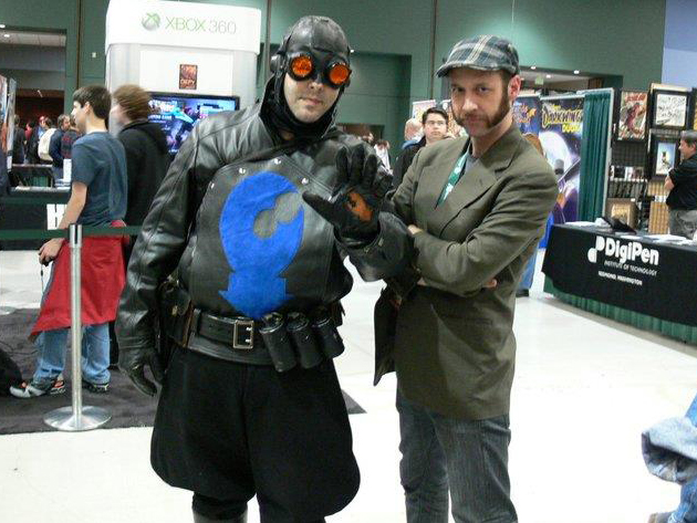 OK, he's not wearing my shirt. But still. It's Lobster Johnson!